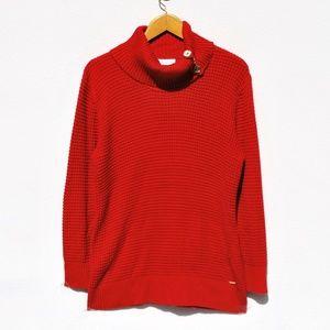 Calvin Klein Cowl Neck Long Sleeve Sweater Size XL